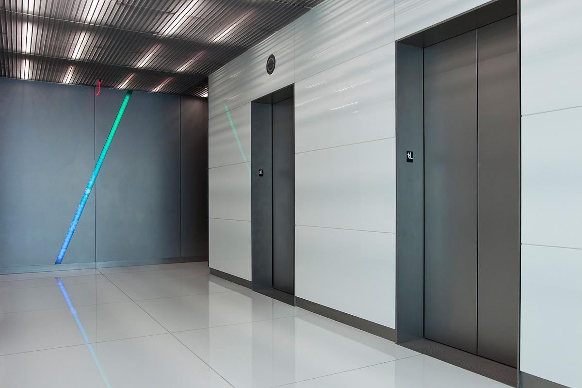 Elevator Doors In Fused Metal Allied Metal Group